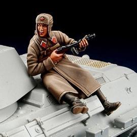 WWII Russian winter tank rider 1