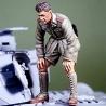 WWII DAK Panzer crew inspecting