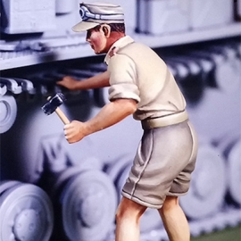 WWII DAK Panzer mechanic