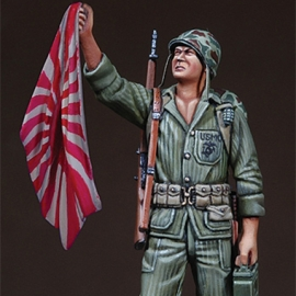 WWII-Korean War USMC Holding Flag