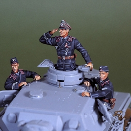 WWII Early war WH panzer crew set (3Figs)