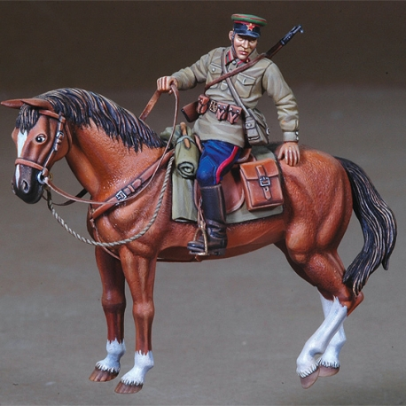 WWII Russian Mounted Officer