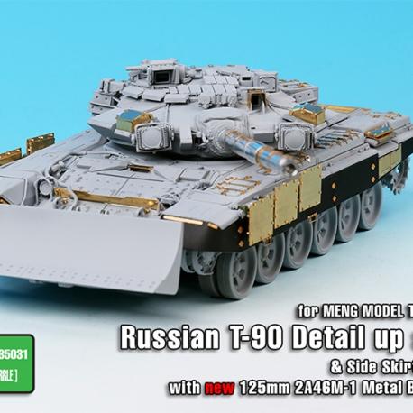 1/35 Russian MBT T-90 Dozer Detail up set w/Side skirts, Metal Barrel