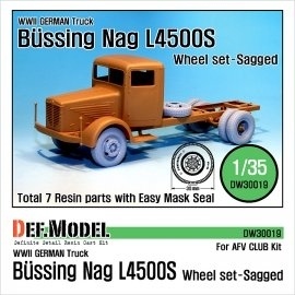 WW2 German Bussing-NAG L4500S Sagged Wheel set (for AFVclub 1/35)