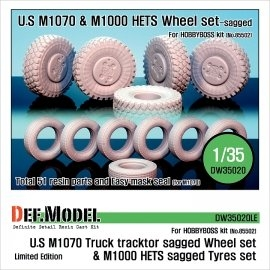M1070/M1000HETS Sagged wheel set (for Hobbyboss 1/35)