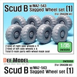 Scud B w/MAZ-543 Sagged Wheel set 1 (for Dragon 1/35)