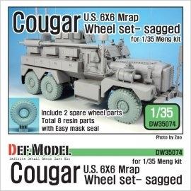 US Cougar 6X6 Mrap Sagged Wheel set - 2 Spare wheel (for Meng 1/35)