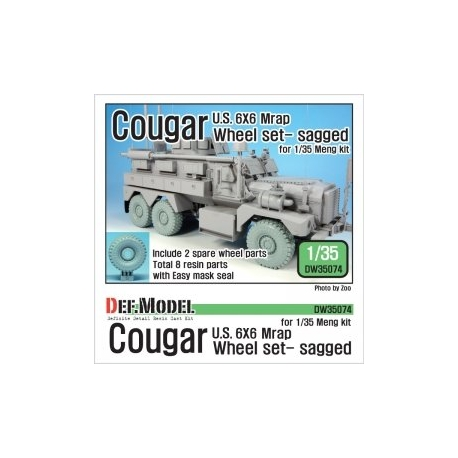 US Cougar 6X6 Mrap Sagged Wheel set - 2 Spare wheel (for Meng 1/35)