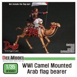 WWI camel mounted Arab flag bearer