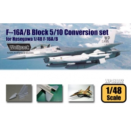 F-16A/B Block 5/10 Conversion set (for Hasegawa 1/48)