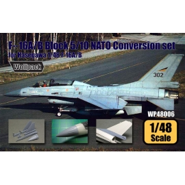 F-16A/B Block 5/10 NATO Conversion set (for Hasegawa 1/48)