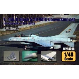 F-16A/B Block 5/10 NATO Conversion set (for Hasegawa 1/48)