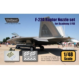 F-22A Raptor Nozzle set (for Academy 1/48)
