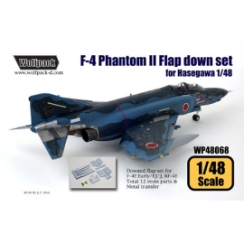 F-4 Phantom II Hard Wing Flap down set (for Hasegawa 1/48)