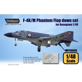 F-4K/M British Phantom Flap down set (for Hasegawa 1/48)