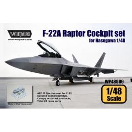 F-22A Raptor Cockpit set (for Hasegawa 1/48)