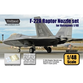 F-22A Raptor Nozzle set (for Hasegawa 1/48)