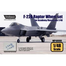 F-22A Raptor Wheel set (for Academy/Hasegawa 1/48)