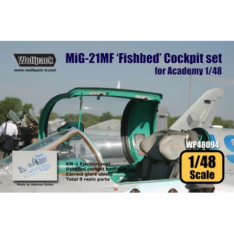 MiG-21MF 'Fishbed' Cockpit set (for Academy 1/48)