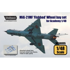 MiG-21MF 'Fishbed' Wheel bay set (for Academy 1/48)