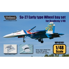 Su-27 Flanker Early type wheel bay set (for Academy 1/48)