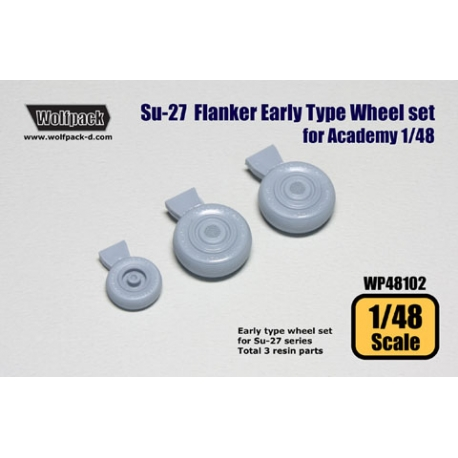 Su-27 Flanker Early type wheel set (for Academy 1/48)