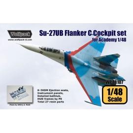 Su-27UB Flanker C Cockpit set (for Academy 1/48)