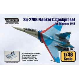 Su-27UB Flanker C Cockpit set (for Academy 1/48)