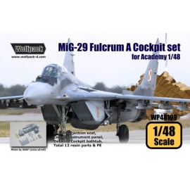 MiG-29 (9.12) Fulcrum A Cockpit set (for Academy 1/48)