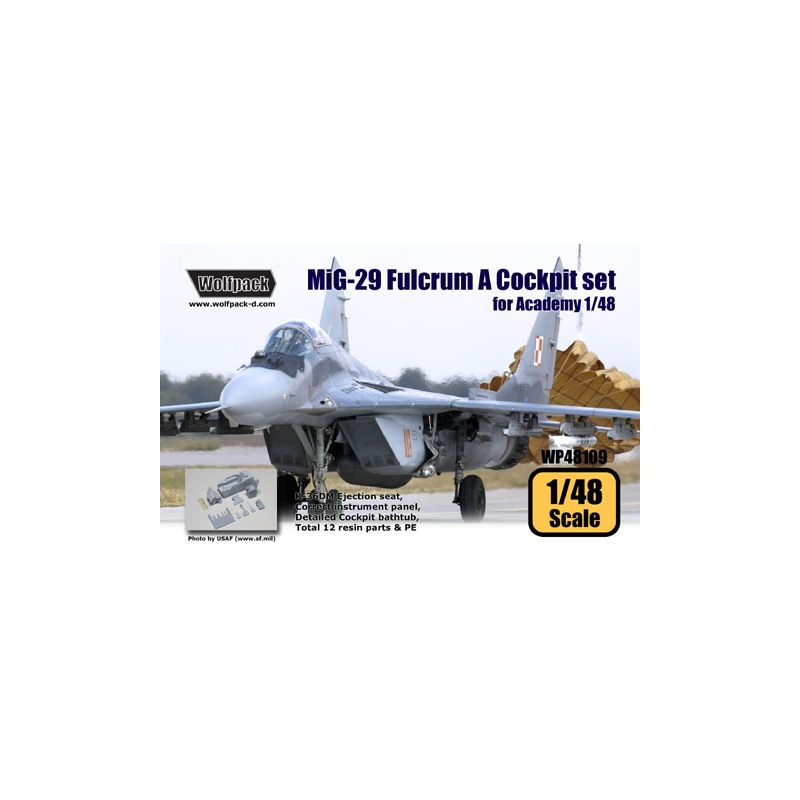 MiG-29 (9 12) Fulcrum A Cockpit set (for Academy 1/48)