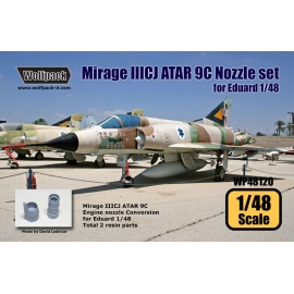 Mirage IIICJ ATAR 9C Nozzle Conversion set (for Eduard 1/48)