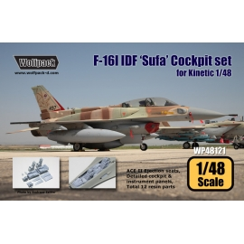 F-16I IDF 'Sufa' Cockpit set (for Kinetic 1/48)