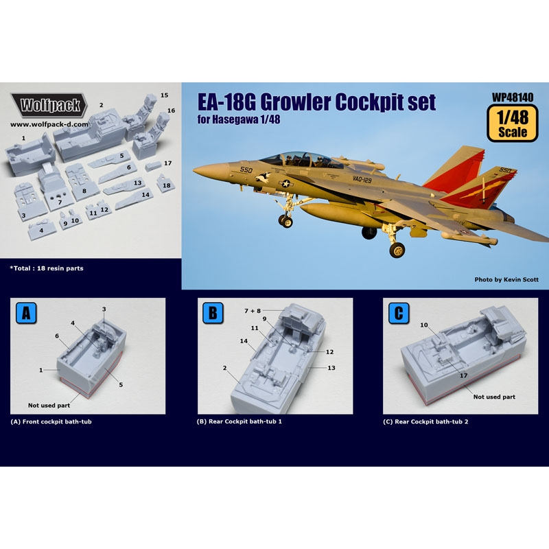 COOL Color Update Detail PE 1//48 F//A-18F 18 Super Hornet Cockpit for Hasegawa