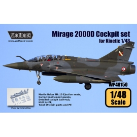 Mirage 2000D Cockpit set (for Kinetic 1/48)