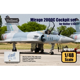 Mirage 2000C Cockpit set (for Heller 1/48)