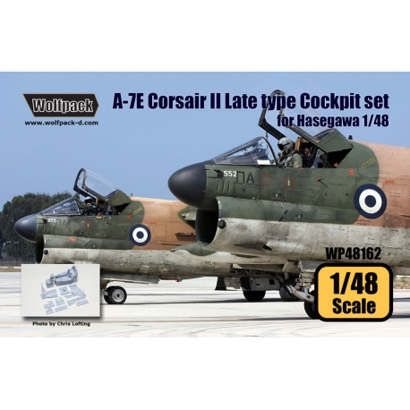 A-7E Corsair II Late type Cockpit set (for Hasegawa 1/48)