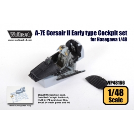 A-7E Corsair II Early type Cockpit set (for Hasegawa 1/48)