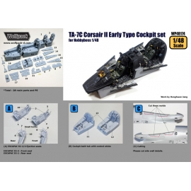 TA-7C Corsair II Early type Cockpit set (for Hobbyboss 1/48)
