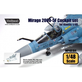 Mirage 2000-5F Cockpit set (for Kinetic 1/48)
