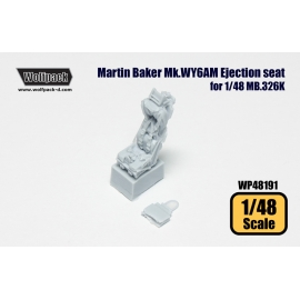 Martin Baker Mk.WY6AM Ejection seats for MB.326K (for Italer 1/48)
