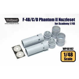 F-4B/C/D/N Phantom II J79 Engine Nozzle set (for Academy 1/48)