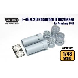 F-4B/C/D/N Phantom II J79 Engine Nozzle set (for Academy 1/48)