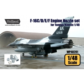 F-16C/D/E/F F110 Engine Nozzle set (for Tamiya/Kinetic 1/48)