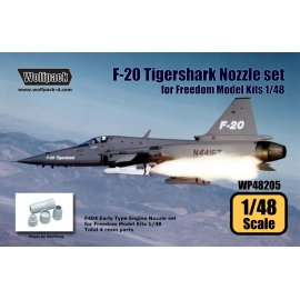 F-20 Tigershark F404 Engine Nozzle set (for Freedom Model Kits 1/48)