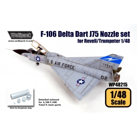 F-106 Delta Dart Engine Nozzle set (for Revell/Trumpeter 1/48)