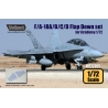 F/A-18A/B/C/D Flap down set (for Academy 1/72)