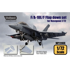F/A-18E/F Flap down wing set (for Hasegawa 1/72)
