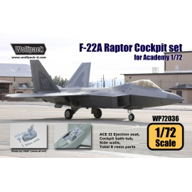 F-22A Raptor Cockpit set (for Academy 1/72)