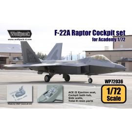 F-22A Raptor Cockpit set (for Academy 1/72)