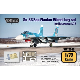 Su-33 Sea Flanker Wheel bay set (for Hasegawa 1/72)